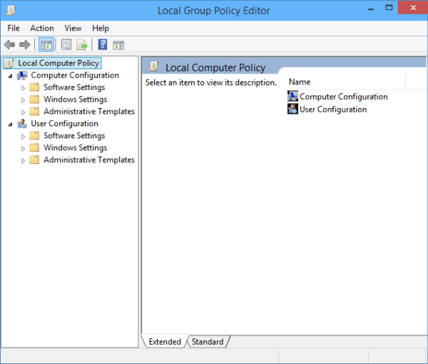 Local Group Policy Editor win 10