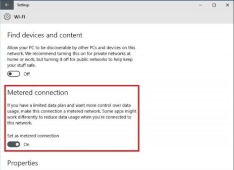 setup metered connection e1562338433918